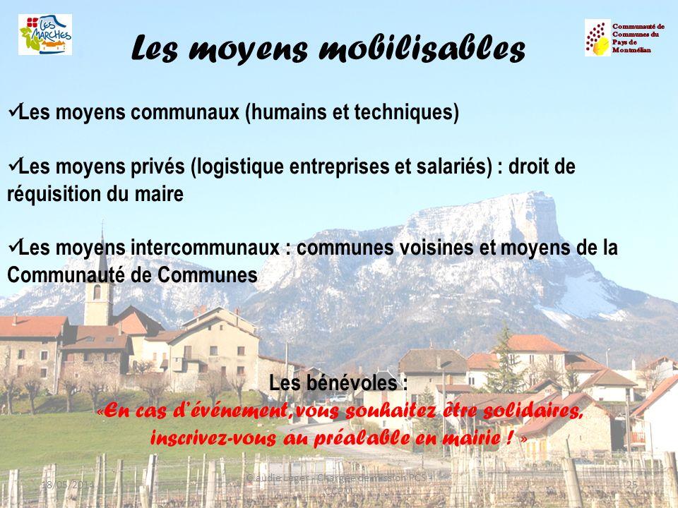Les moyens mobilisables