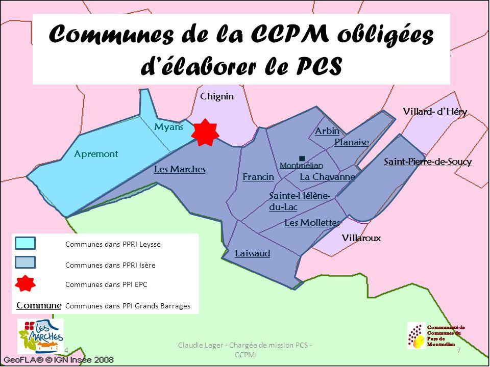 Communes de la CCPM obligées d'élaborer le PCS