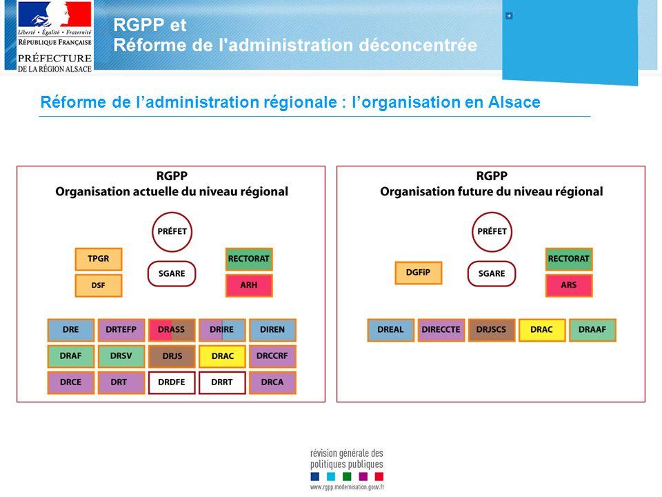Réforme de l'administration régionale : l'organisation en Alsace