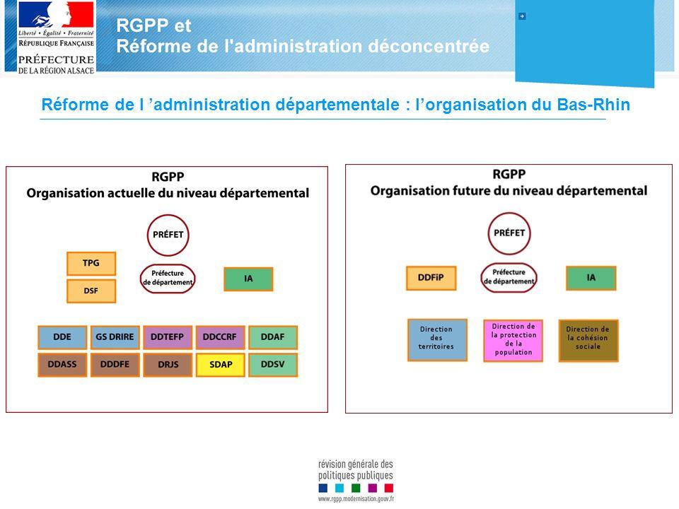 Réforme de l 'administration départementale : l'organisation du Bas-Rhin