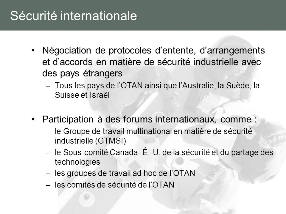 Sécurité internationale