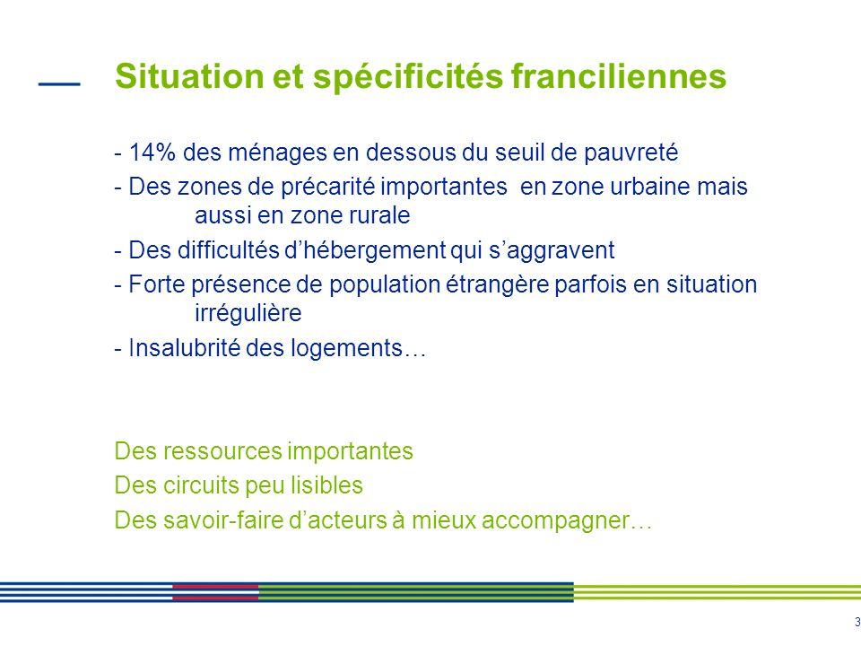 Situation et spécificités franciliennes