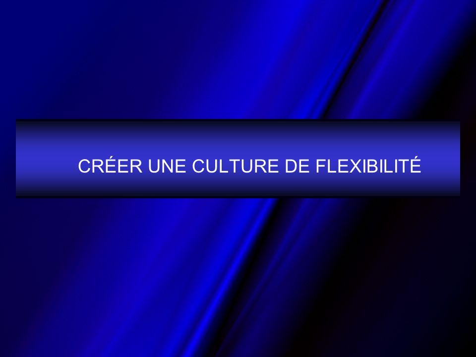 CRÉER UNE CULTURE DE FLEXIBILITÉ