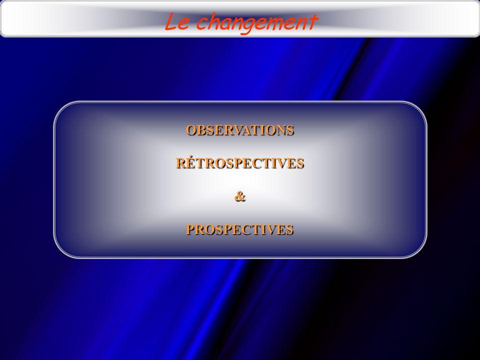 Le changement OBSERVATIONS RÉTROSPECTIVES & PROSPECTIVES