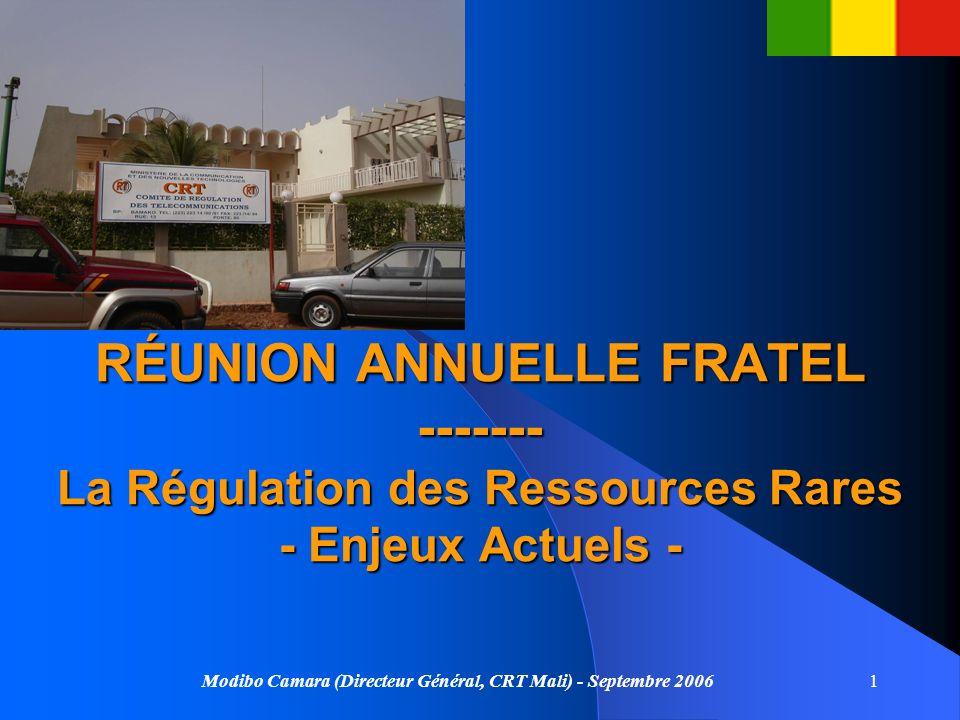 RT RÉUNION ANNUELLE FRATEL ------- La Régulation des Ressources Rares - Enjeux Actuels -