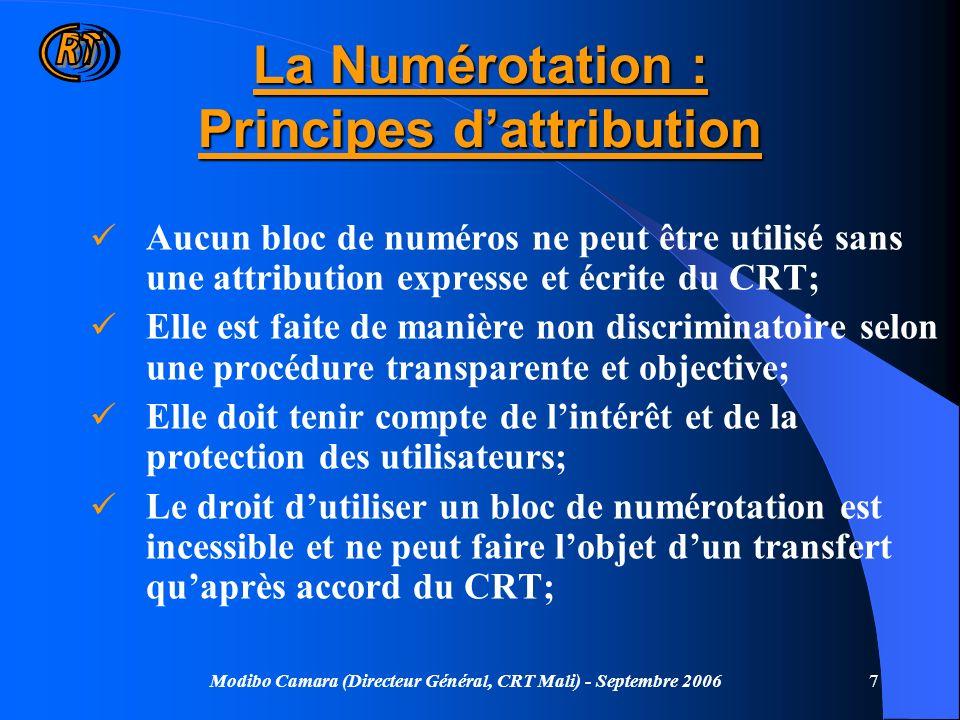La Numérotation : Principes d'attribution