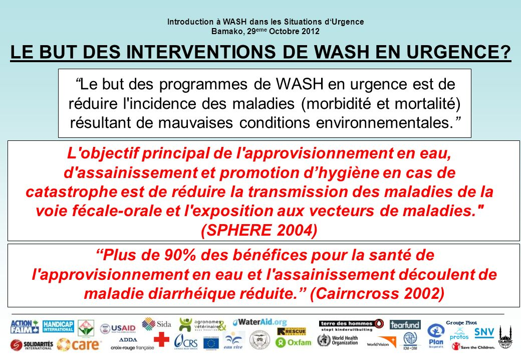 LE BUT DES INTERVENTIONS DE WASH EN URGENCE