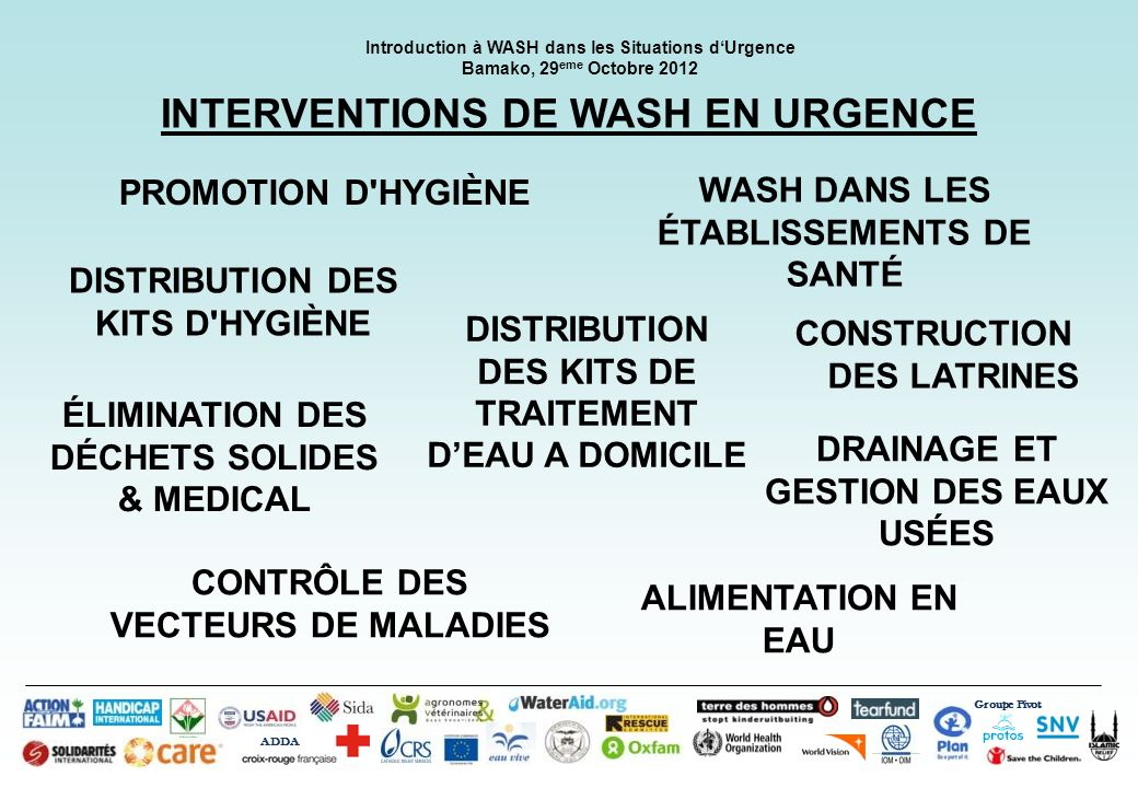 INTERVENTIONS DE WASH EN URGENCE