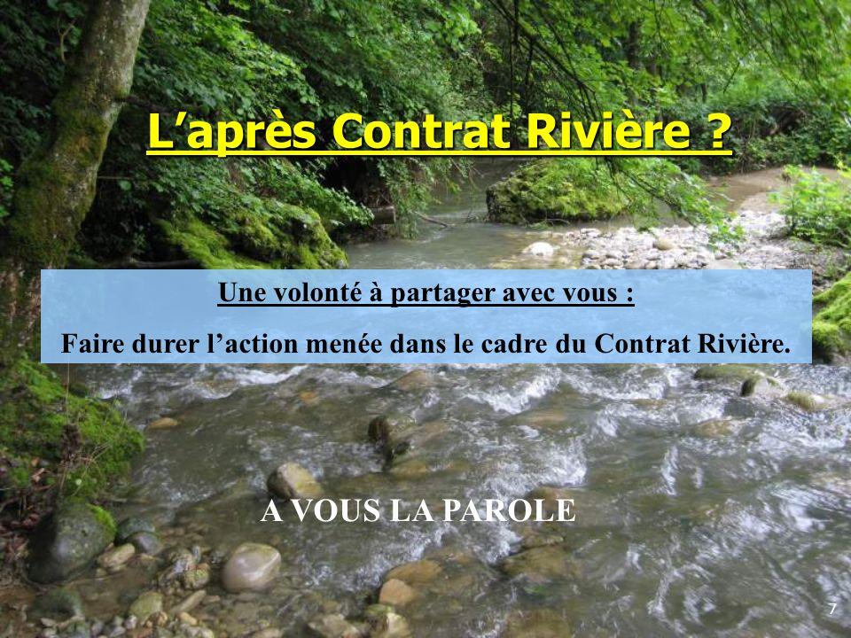 L'après Contrat Rivière