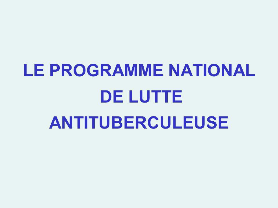 LE PROGRAMME NATIONAL DE LUTTE ANTITUBERCULEUSE