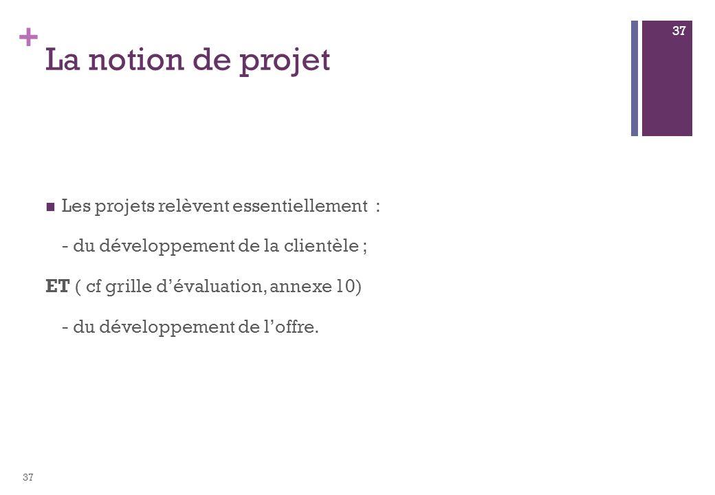 La notion de projet Les projets relèvent essentiellement :