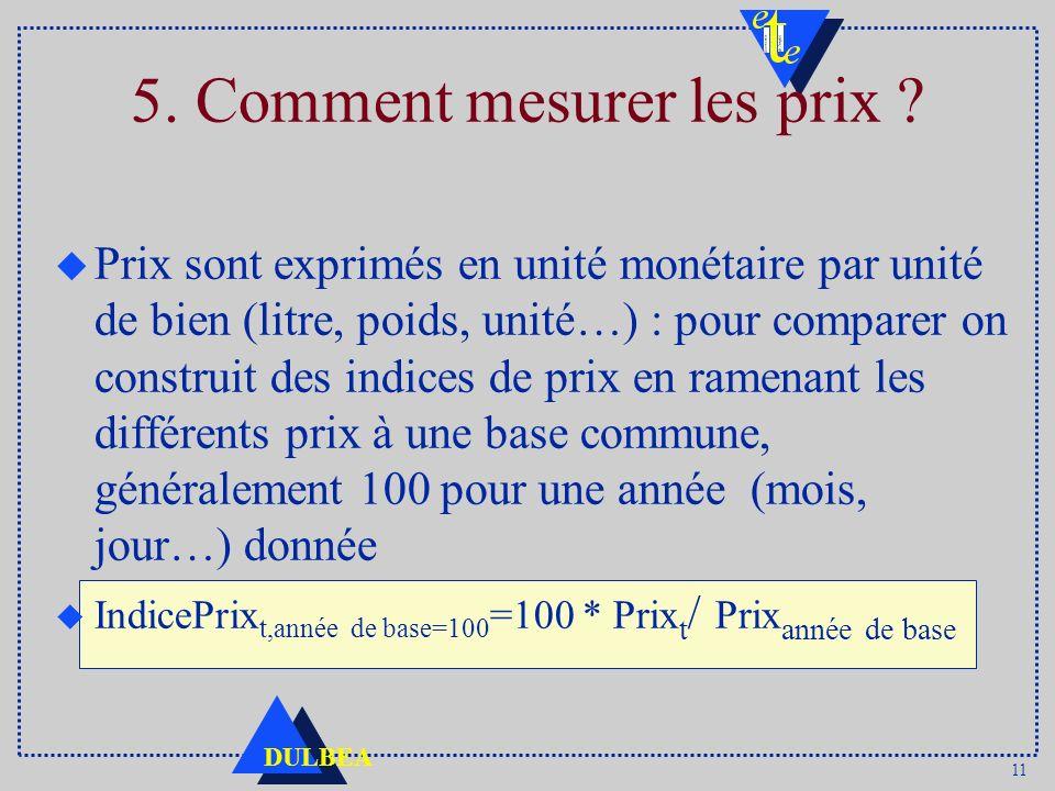 5. Comment mesurer les prix