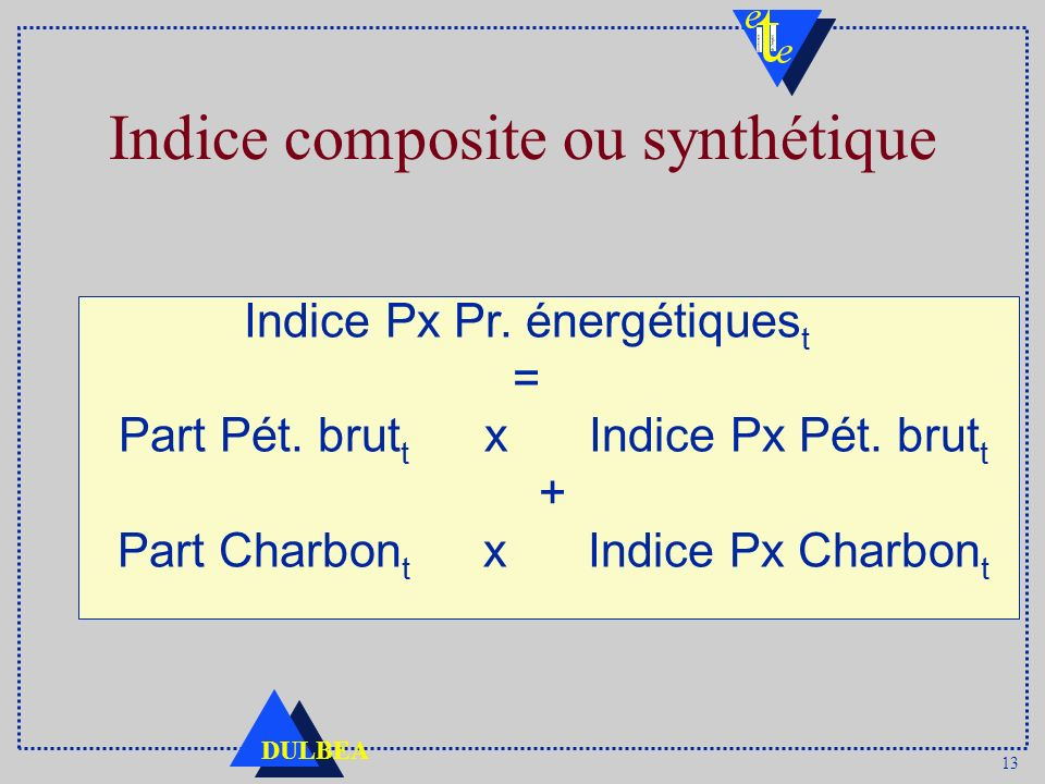 Indice composite ou synthétique