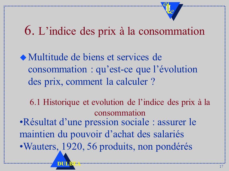 6. L'indice des prix à la consommation