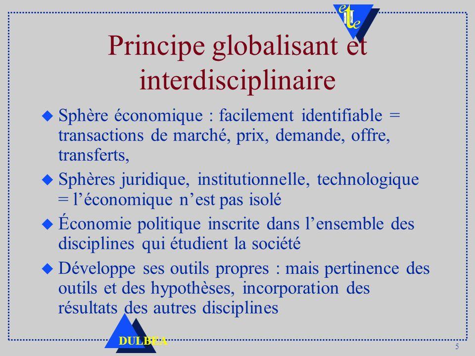 Principe globalisant et interdisciplinaire