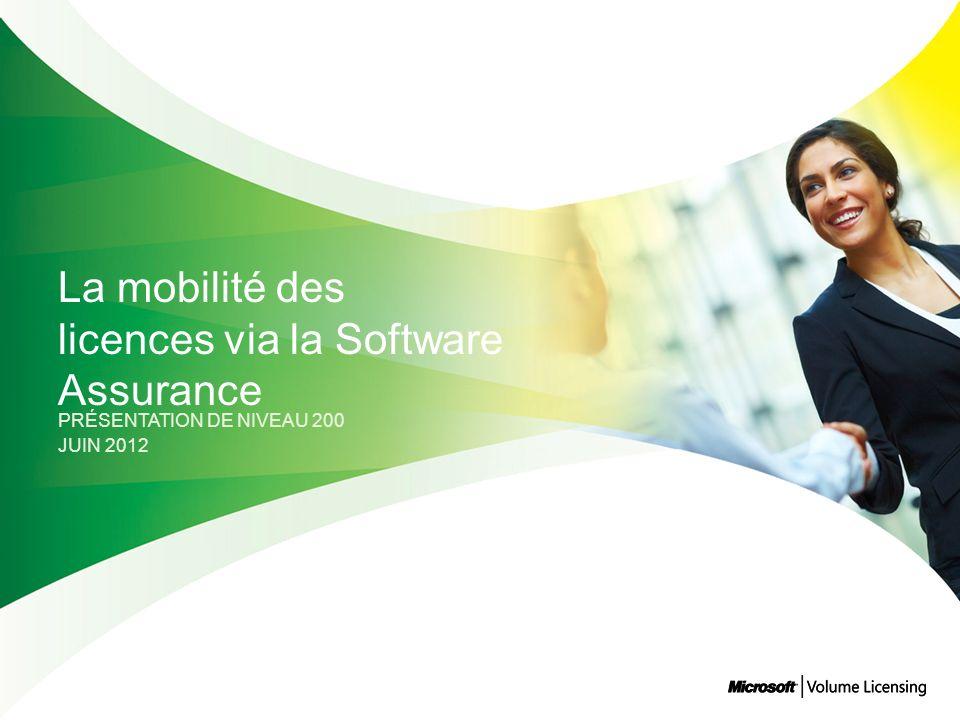 La mobilité des licences via la Software Assurance