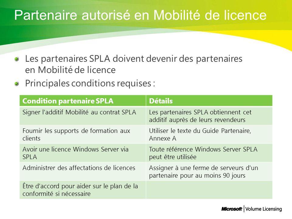 Partenaire autorisé en Mobilité de licence