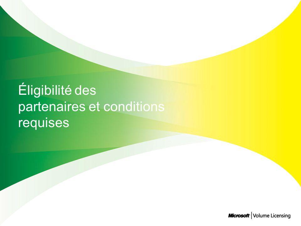 Éligibilité des partenaires et conditions requises