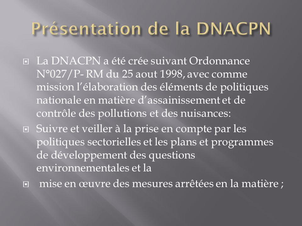 Présentation de la DNACPN