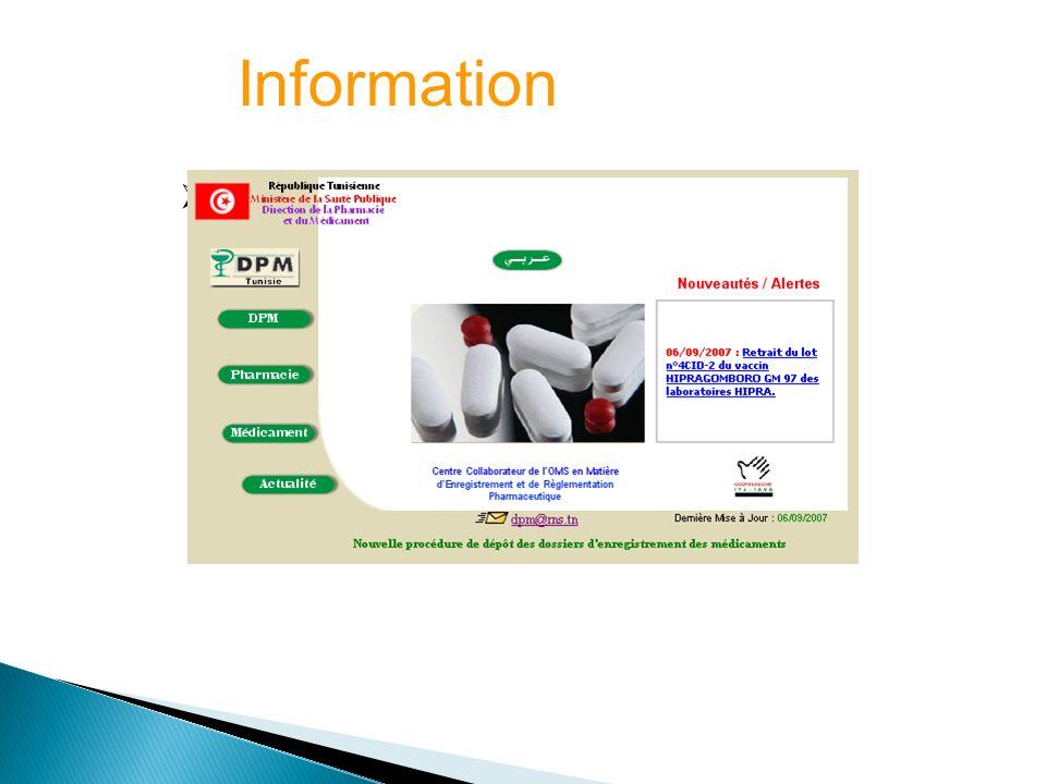 Information Site Web de la DPM (www.dpm.tn)
