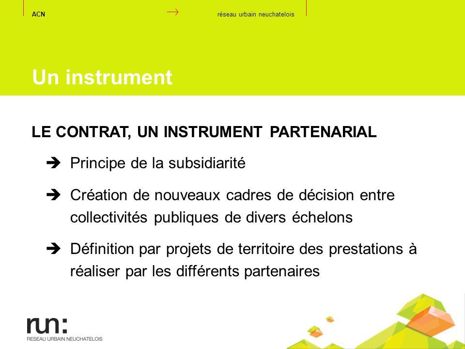 Un instrument LE CONTRAT, UN INSTRUMENT PARTENARIAL