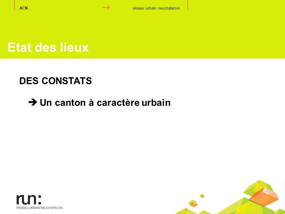 Etat des lieux DES CONSTATS Un canton à caractère urbain ACN