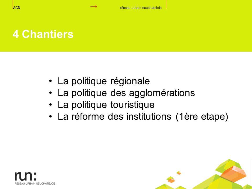 4 Chantiers La politique régionale La politique des agglomérations