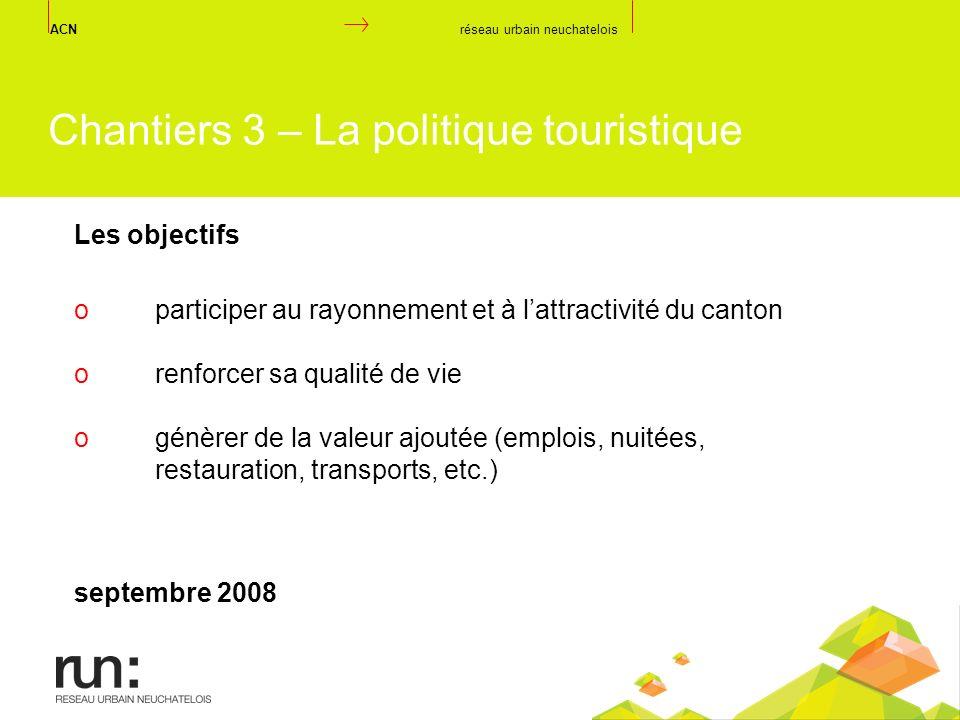 Chantiers 3 – La politique touristique