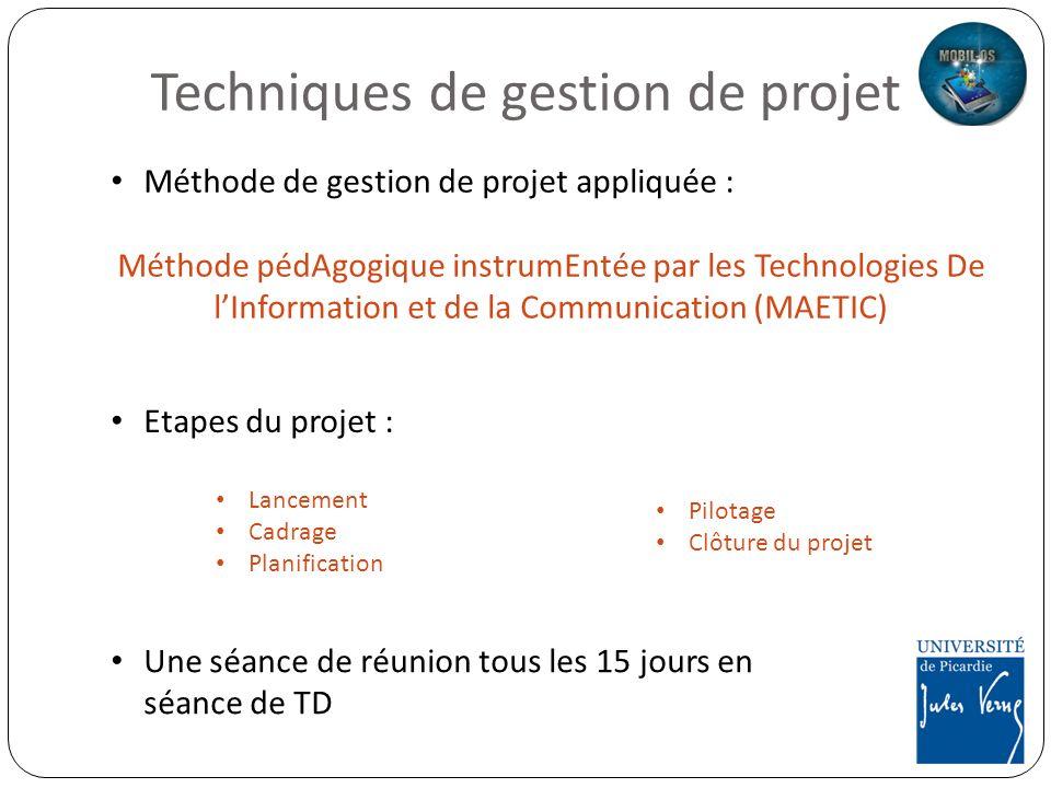 Techniques de gestion de projet