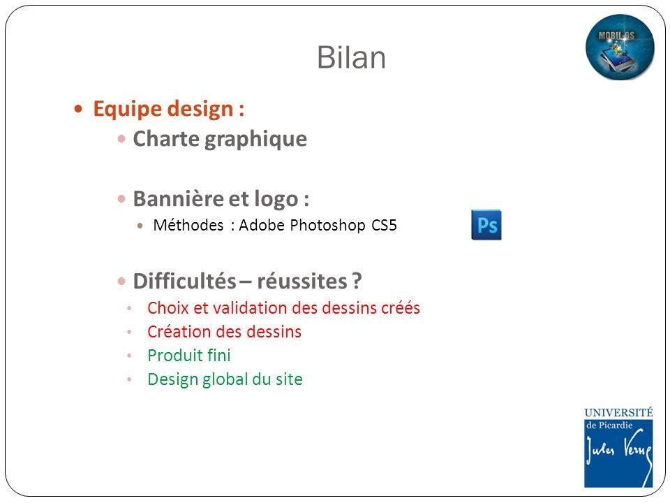 Bilan Equipe design : Charte graphique Bannière et logo :