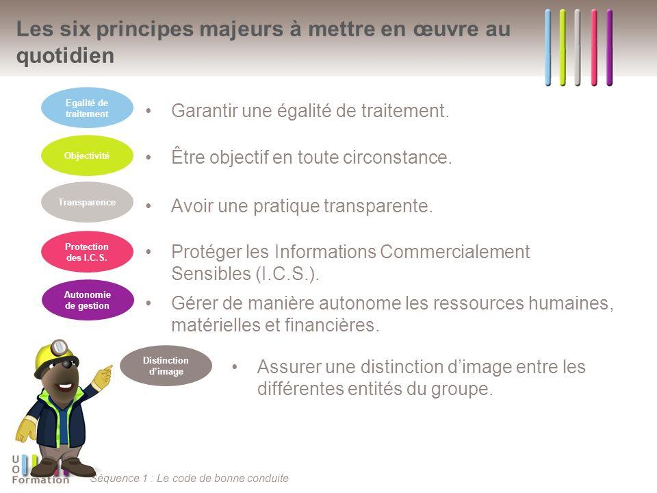 Les six principes majeurs à mettre en œuvre au quotidien