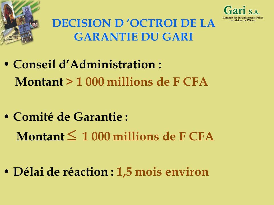DECISION D 'OCTROI DE LA