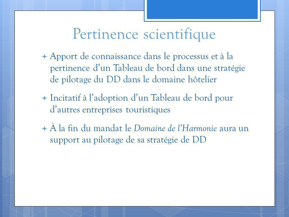 Pertinence scientifique