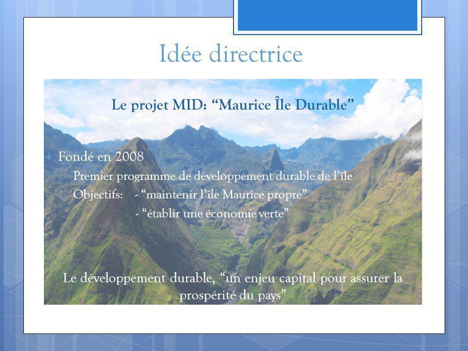 Le projet MID: Maurice Île Durable