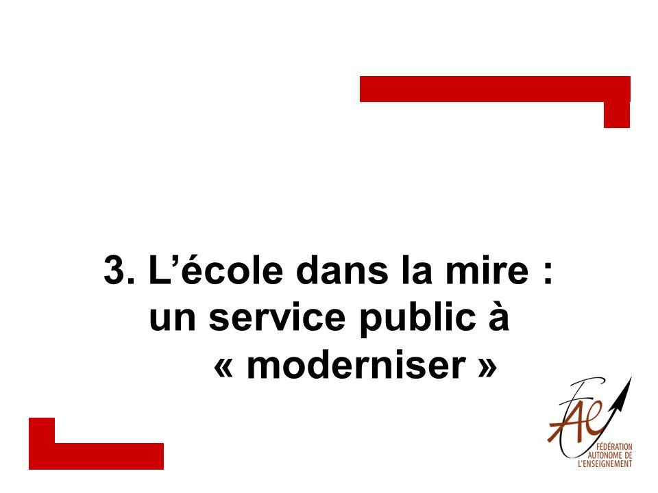 un service public à « moderniser »