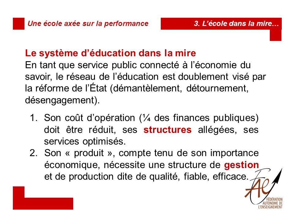Le système d'éducation dans la mire