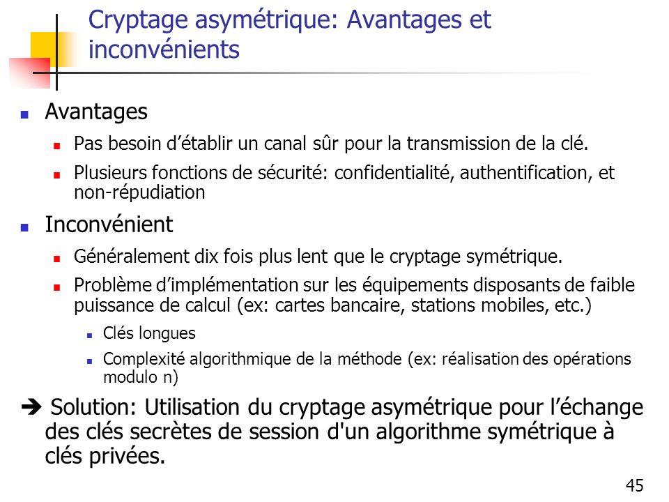 Cryptage asymétrique: Avantages et inconvénients