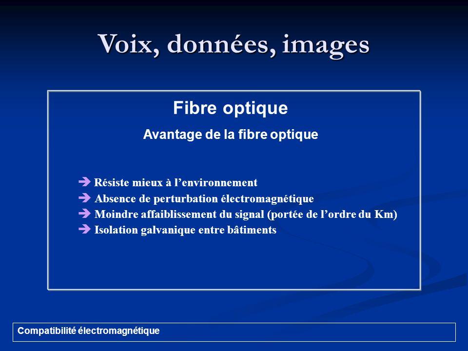 Avantage de la fibre optique