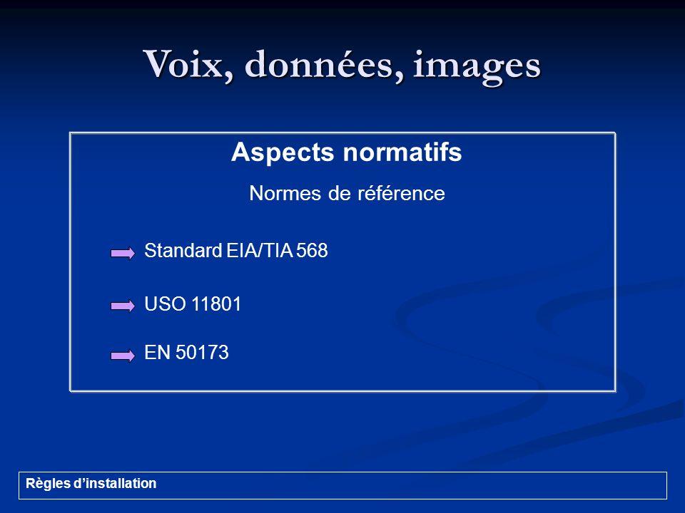 Voix, données, images Aspects normatifs Normes de référence