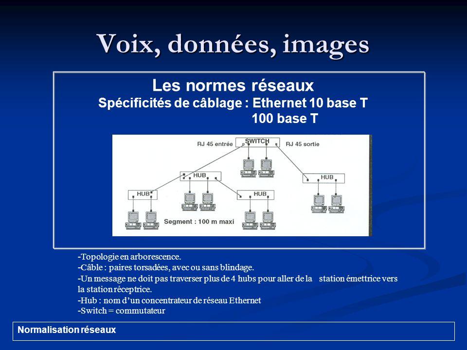 Spécificités de câblage : Ethernet 10 base T