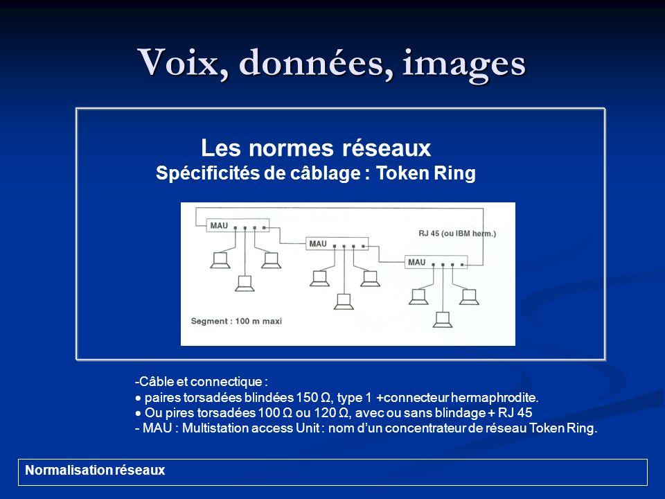 Spécificités de câblage : Token Ring