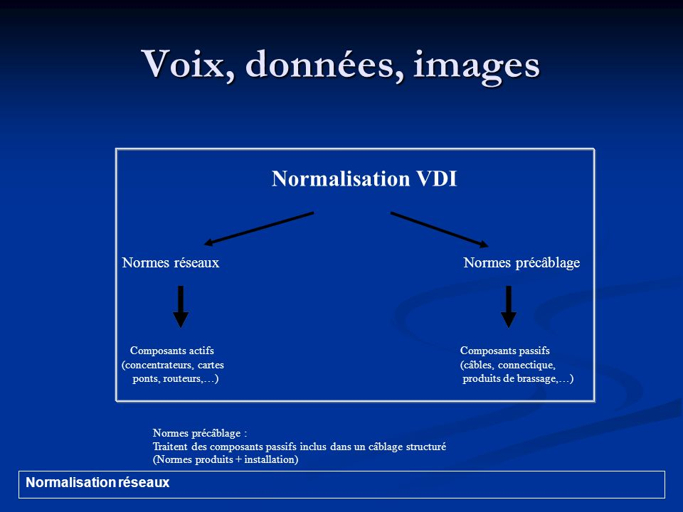 Voix, données, images Normalisation VDI