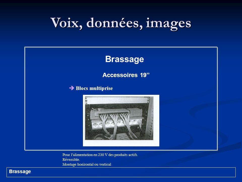Voix, données, images Brassage Accessoires 19''  Blocs multiprise