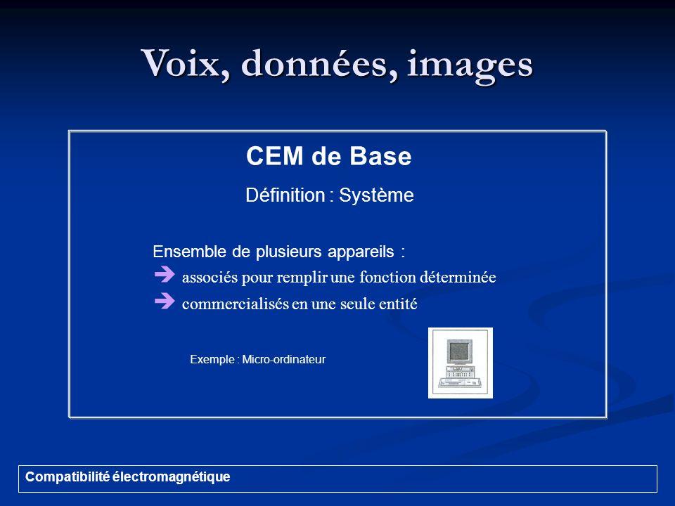 Voix, données, images CEM de Base