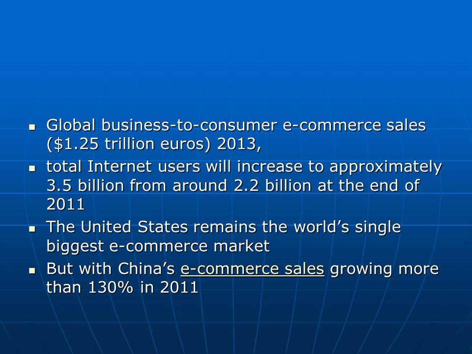 Global business-to-consumer e-commerce sales ($1