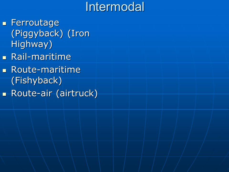 Intermodal Ferroutage (Piggyback) (Iron Highway) Rail-maritime
