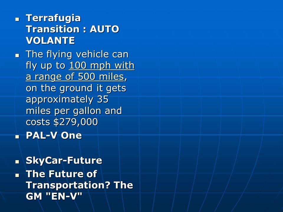 Terrafugia Transition : AUTO VOLANTE
