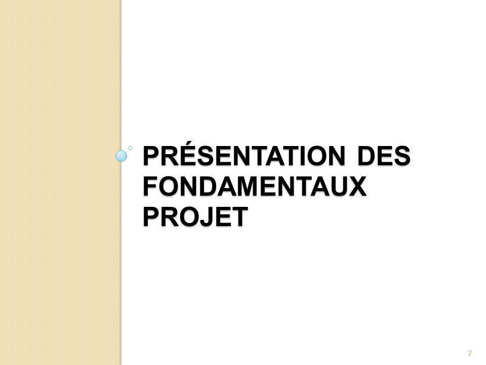 Présentation des fondamentaux projet