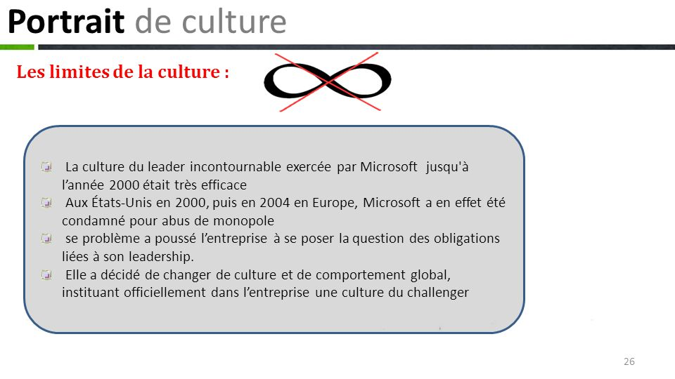 Portrait de culture Les limites de la culture :