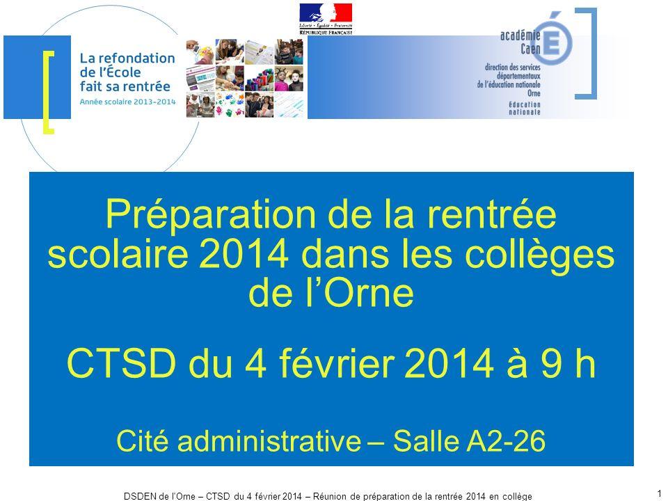 Préparation de la rentrée scolaire 2014 dans les collèges de l'Orne
